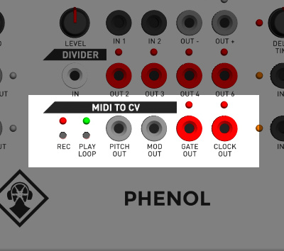 KilpatrickAudio PHENOL MIDI to CV Converter Mini Sequencer